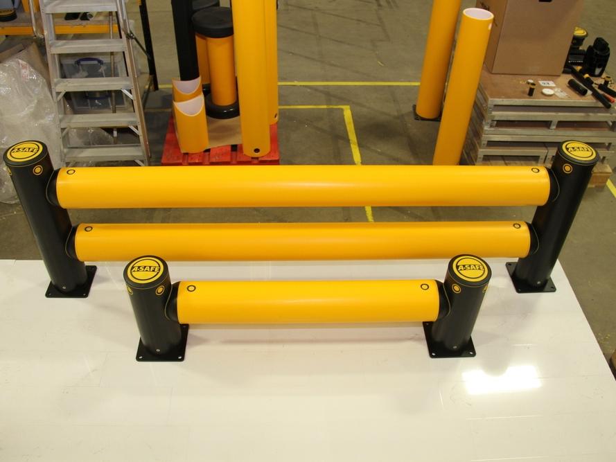 Påkjøringsvern - Vi monterer A-Safe påkjøringsvern for lagerhaller m.m