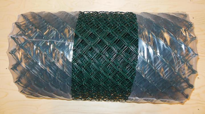 Plastbelagt grønt flettverk  Maskevidde 50x50mm med tråddiameter 3.0mm