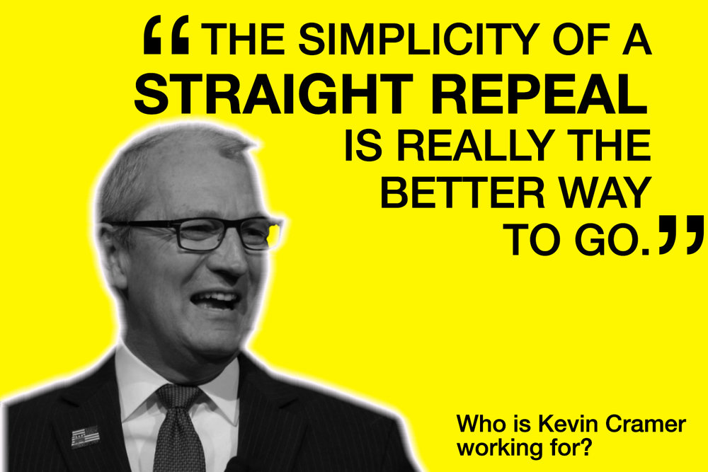 Kevin Cramer does not work for North Dakota