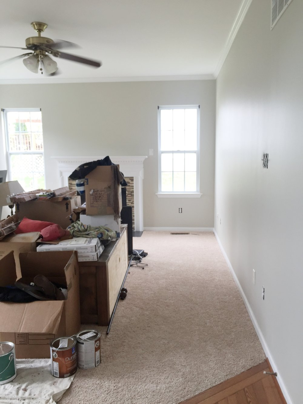 Before Our Very Yellow Master Bedroom