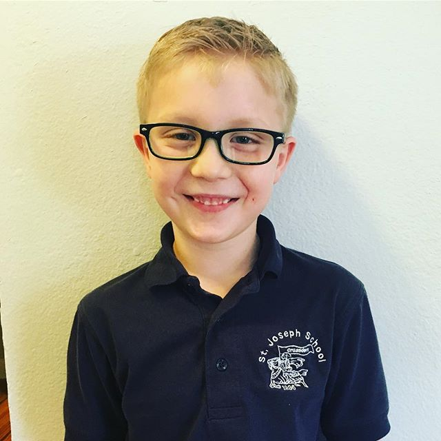 Jake is super excited and oh so precious to get his brand new glasses from #crystalcleareyecare !!!