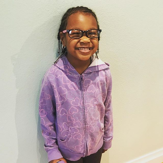Sweet Liberty is so adorable in her new glasses!!! How about that smile?! 😎❤️