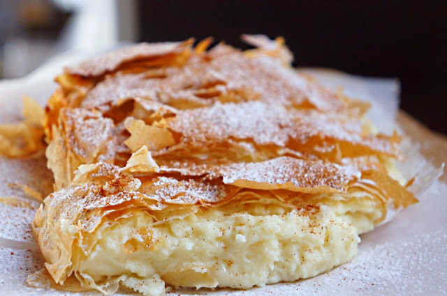 Bougatsa with crema