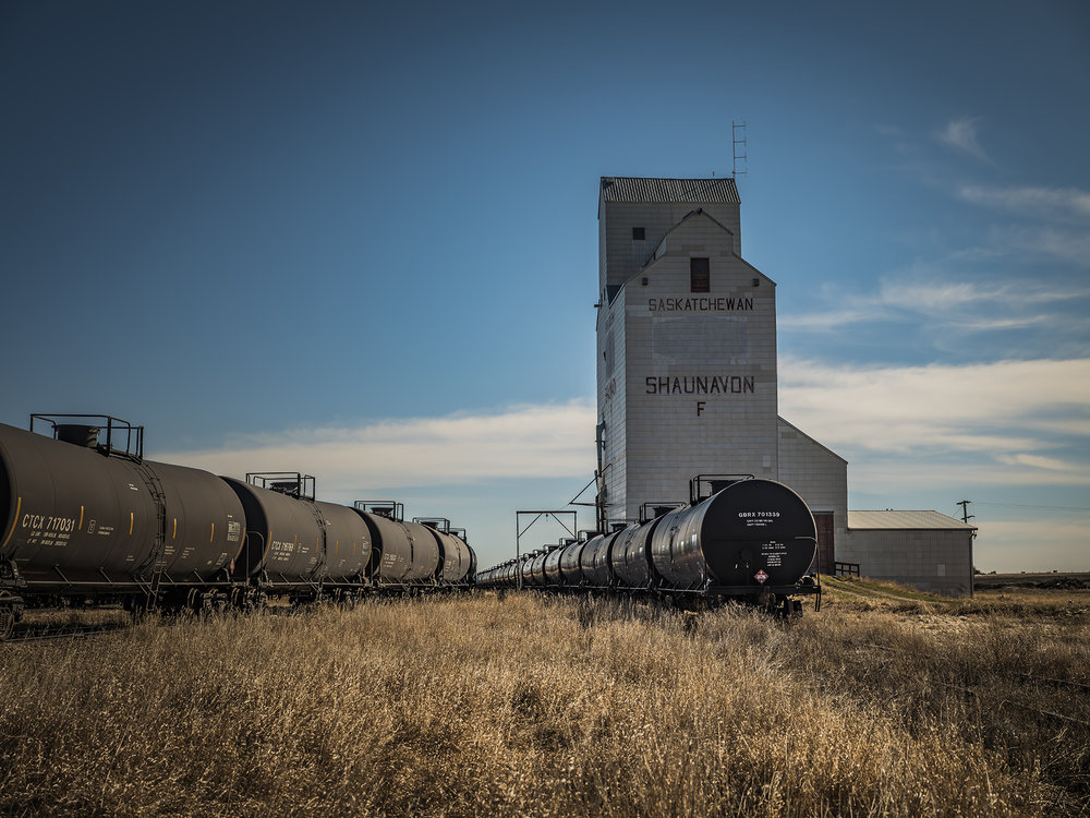 Choosing to get off the Trans Canada Highway and take a southerly route east proved the right decision, I was trying to find some old grain elevators. There are plenty in the real rural Saskatchewan