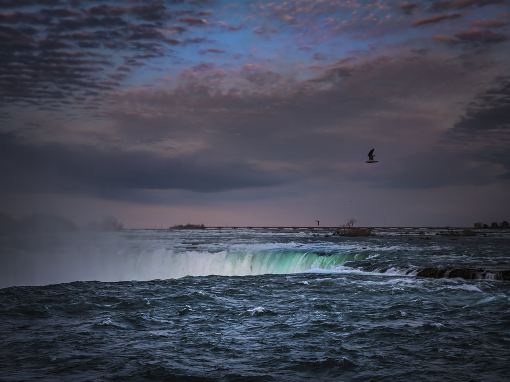 A very different perspective of the Horseshoe Falls as seen from the water's edge