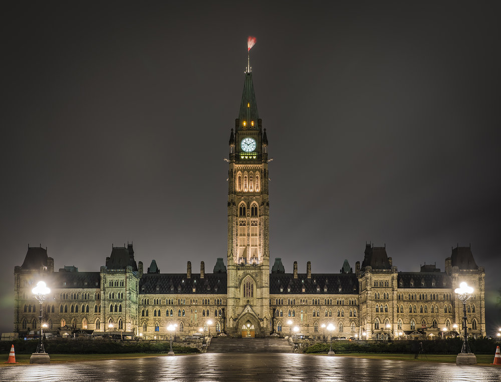 The Centre Block on Parliament Hill – Where the business of government is done!