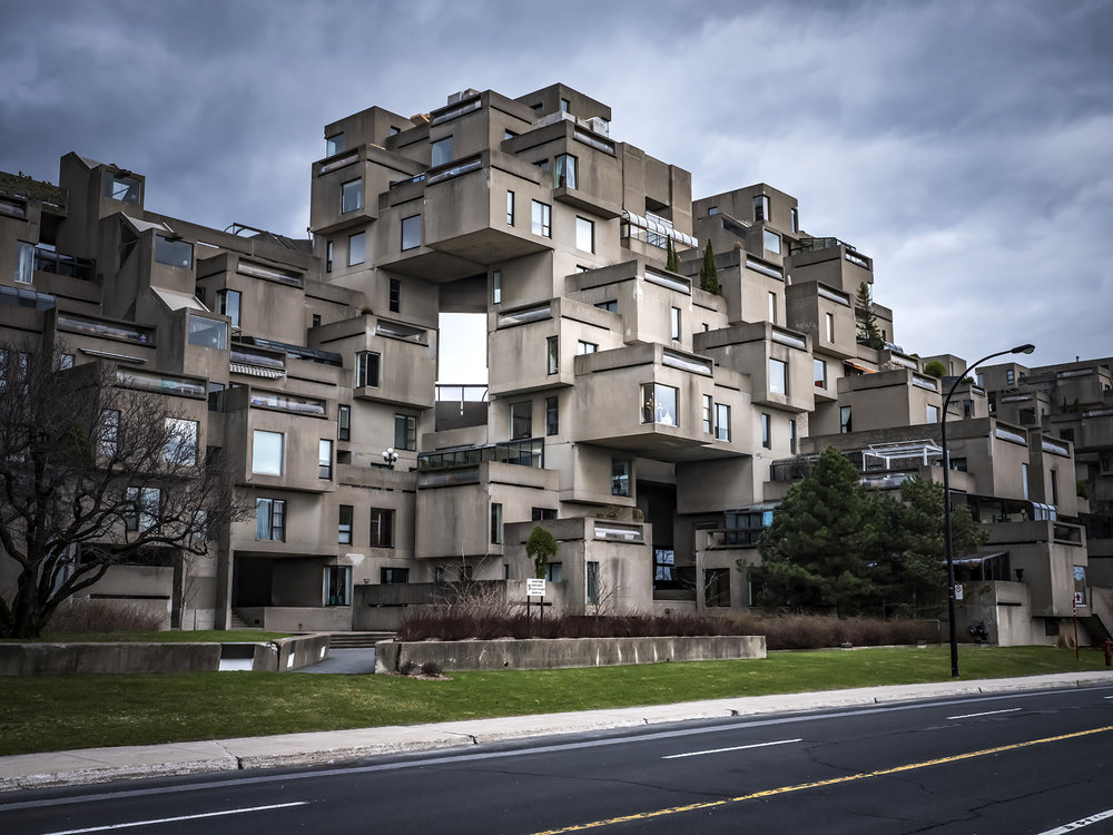 Part of the Habitat complex designed by architect, Moshe Safdie for the Expo '67 World's Fair in Montreal