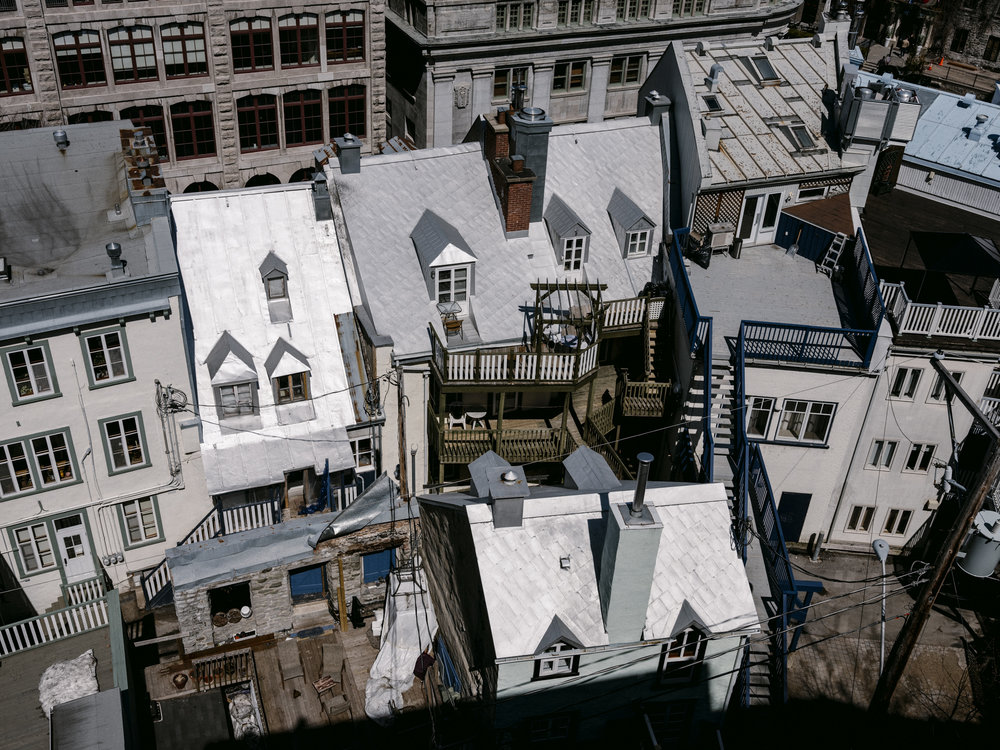 Rooftops of old Quebec City. Photo by Renaud Philippe