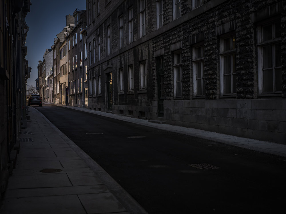 "The empty streets of the ""other"" Quebec City"