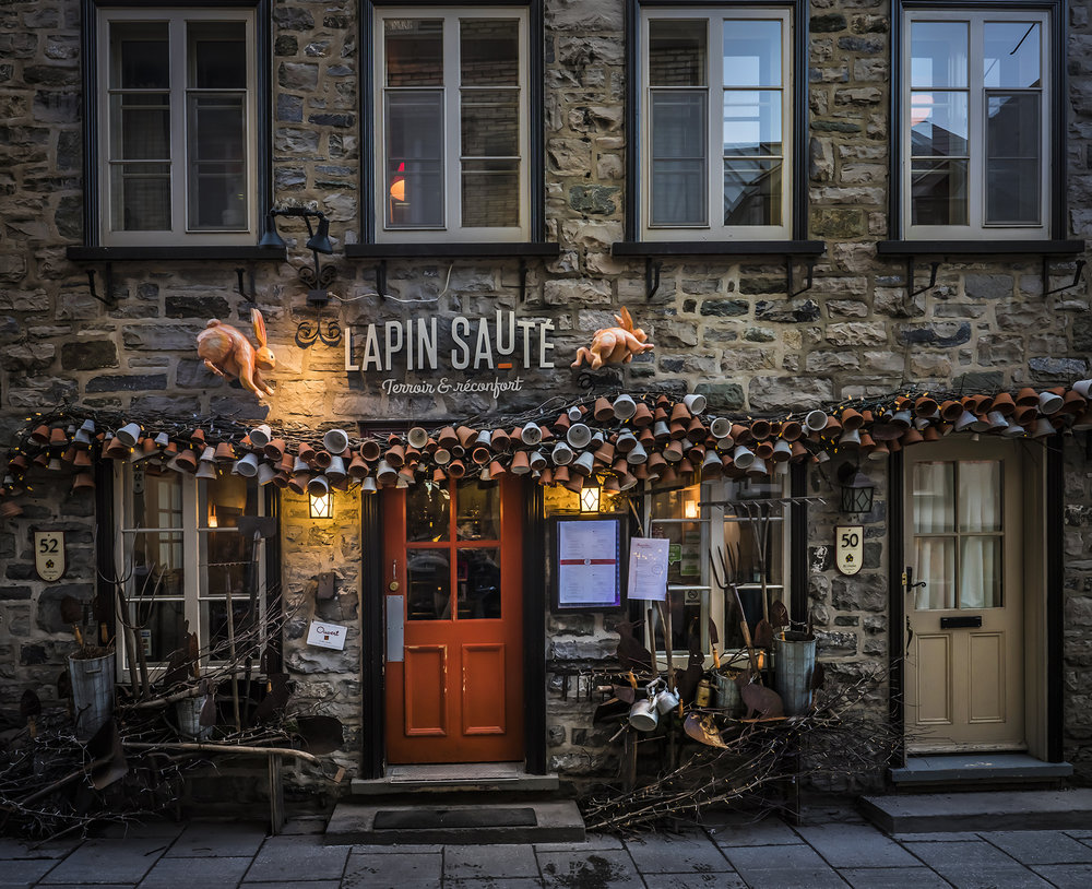 The historic and tourist area of Old Quebec.