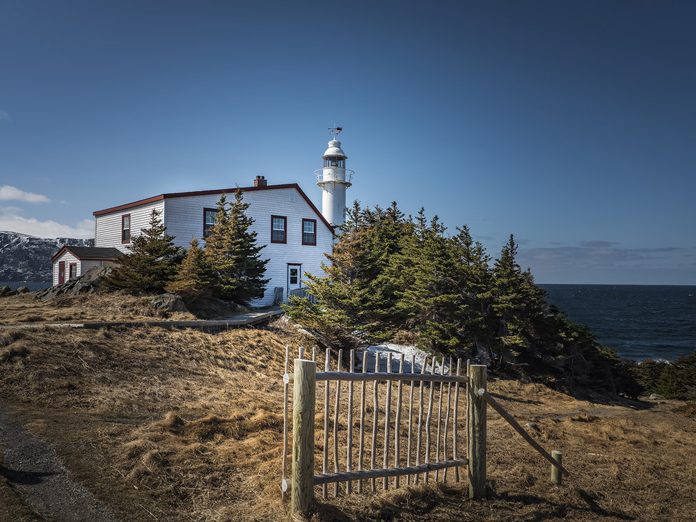 The lighthouse at Lobster Cover near Rocky Harbour