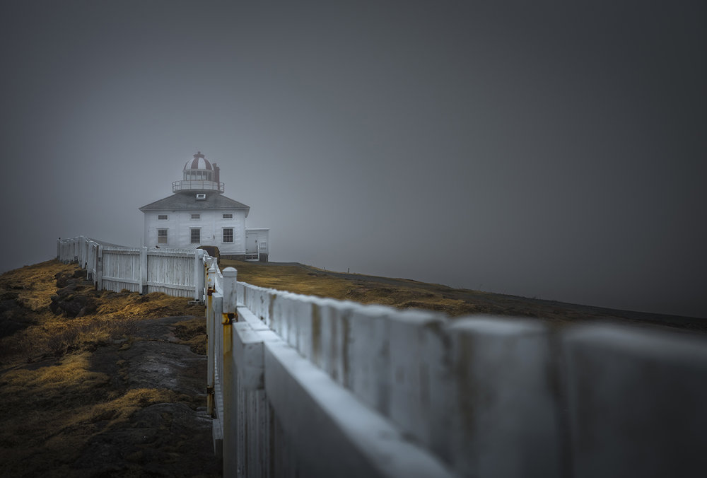 The original Cape Spear lighthouse helped protect ships from the cliffs between 1836 and 1955