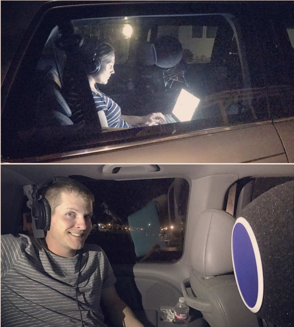 Podcast Recording In A Van