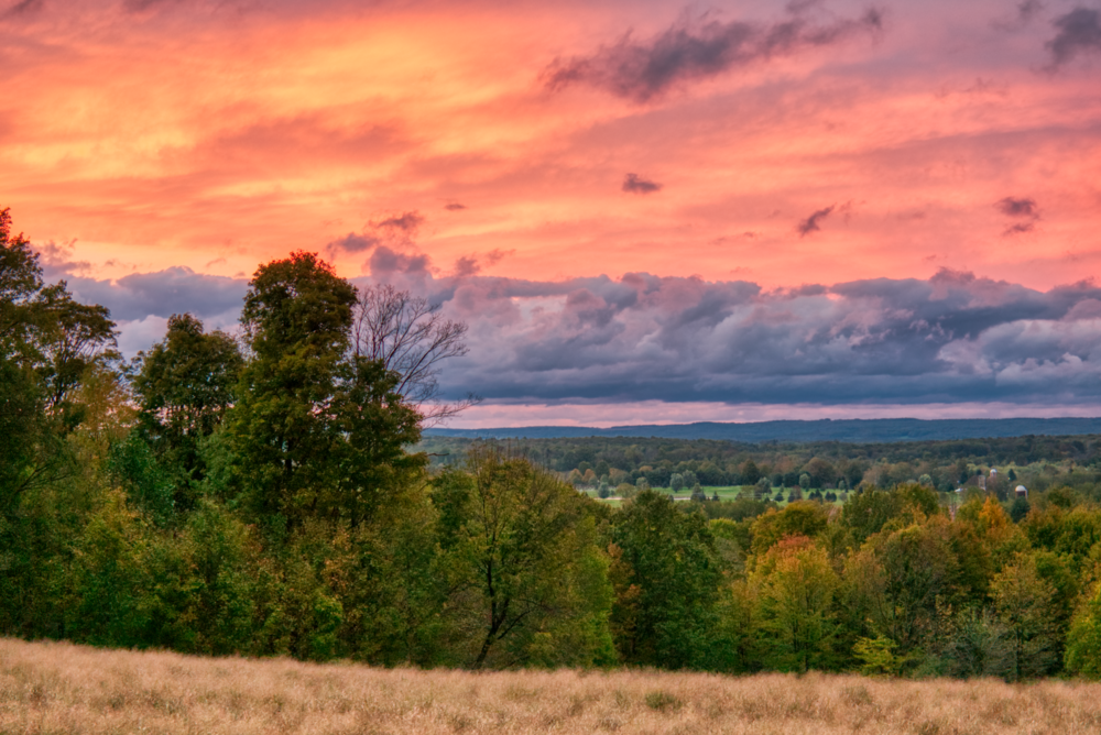 Beautiful sunset Monday October 15, 2018 - Venango, Pennsylvania