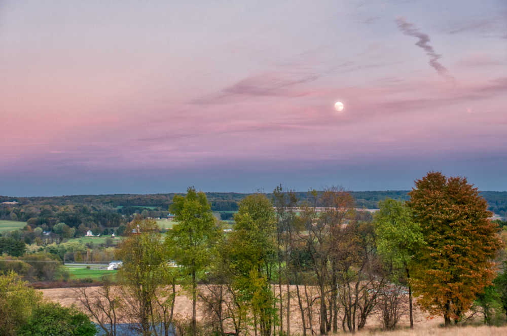 Moon Over Venango Valley