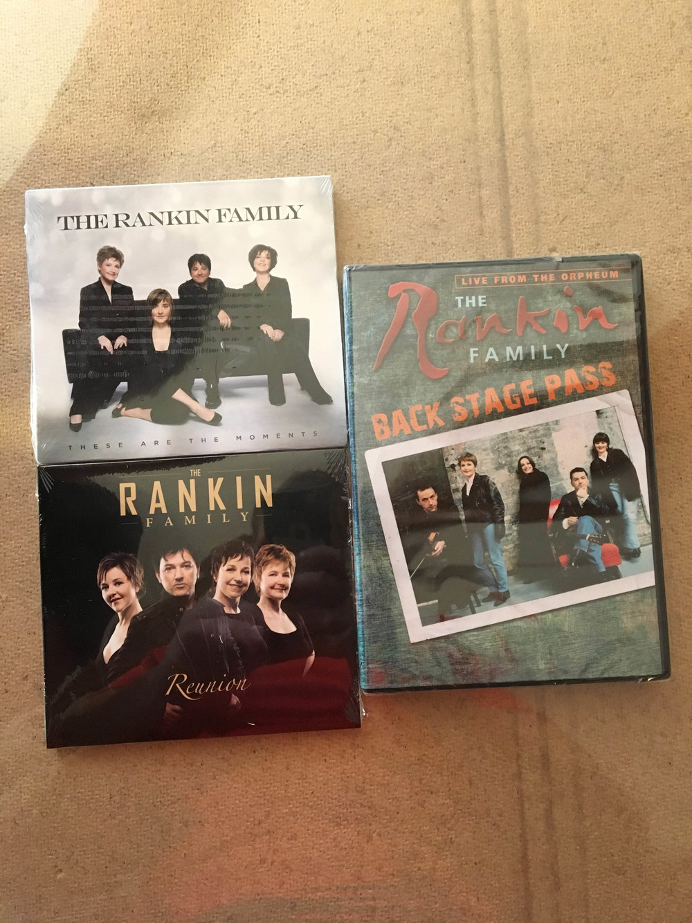 Rankin Family CD/DVD's  $20+tax -