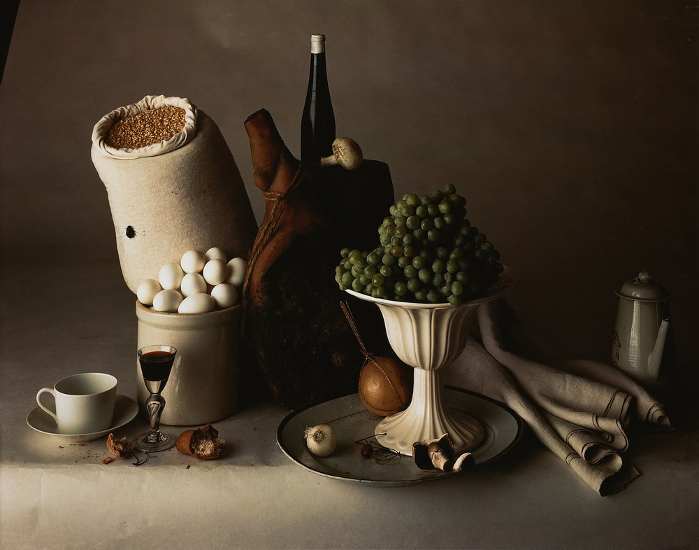 Irving Penn, Still Life with Food, New York, 1947. Silver dye bleach print. © Condé Nast