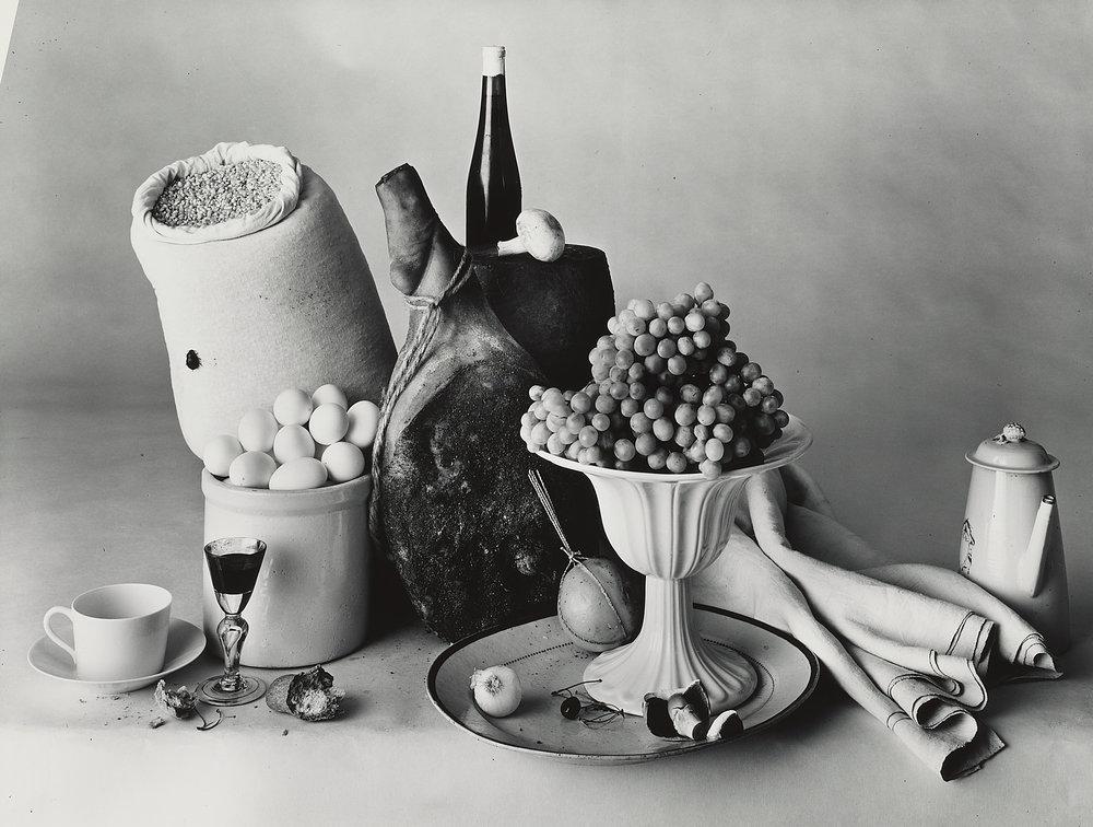 Irving Penn, New York Still Life, 1947. Gelatin silver print. © Condé Nast