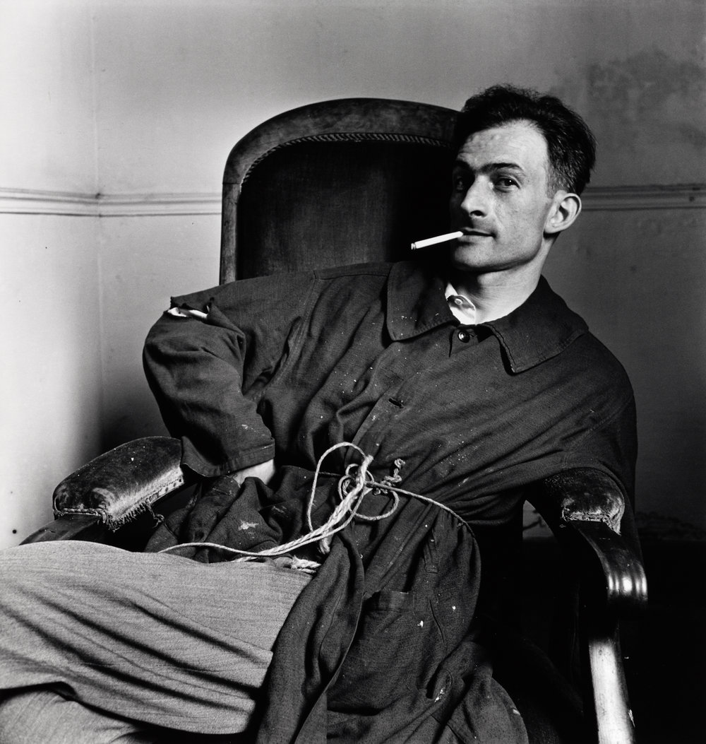 Balthus (B) , Paris, 1948 Gelatin silver print © The Irving Penn Foundation