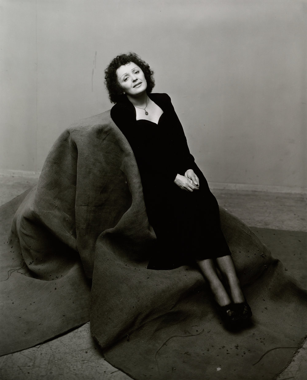 Édith Piaf (1 of 3) , New York, 1948 Gelatin silver print © The Irving Penn Foundation