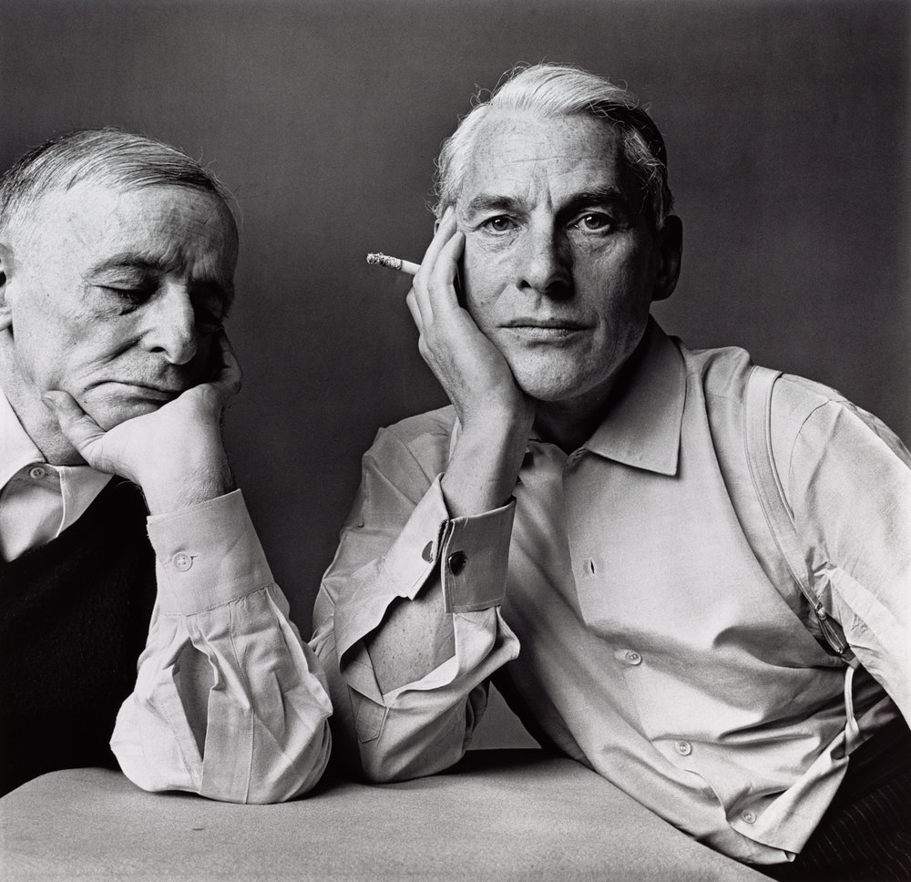Frederick Kiesler and Willem De Kooning (1 of 2) , New York, 1960 Gelatin silver print © The Irving Penn Foundation
