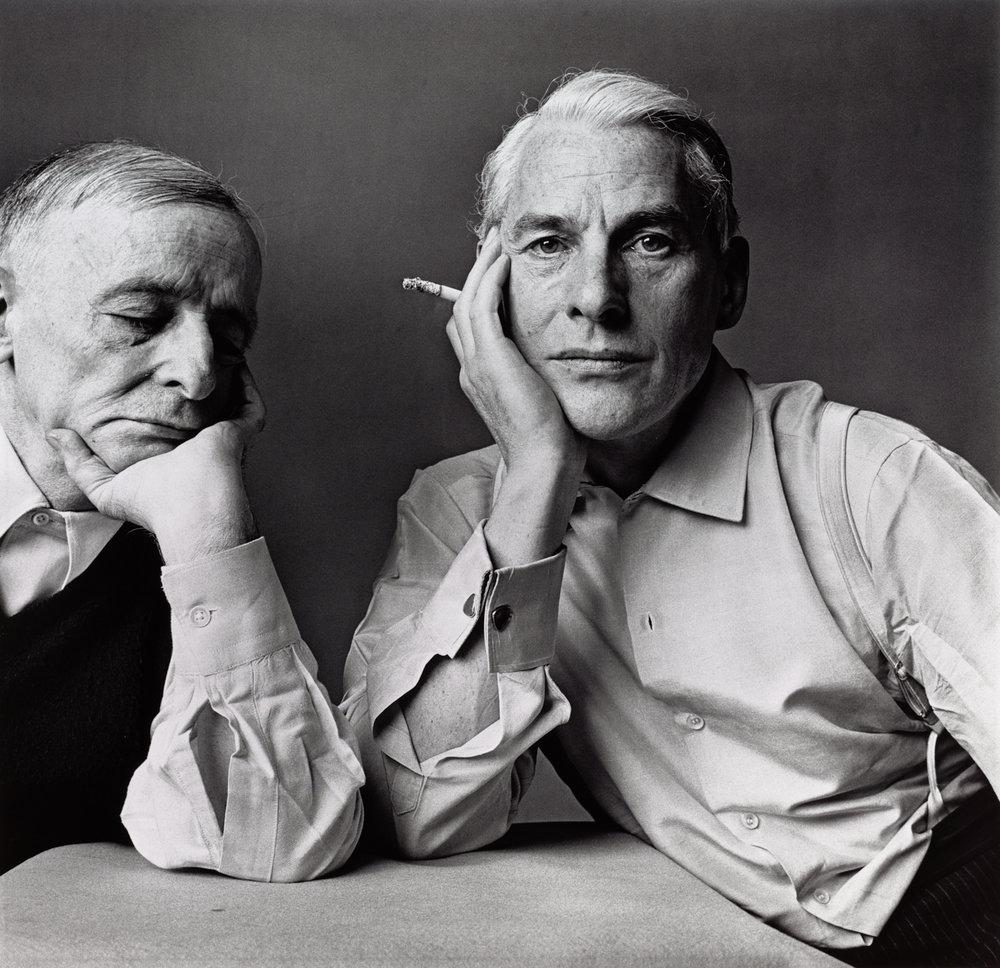 Frederick Kiesler and Willem de Kooning (1 of 2) , New York, 1960 Gelatin silver print © The Irving Penn Foundation