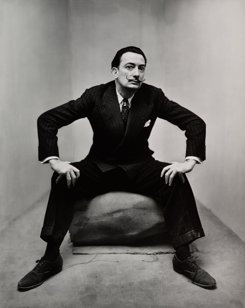 Salvador Dalí (1 of 3) , New York, 1947 Gelatin silver print © The Irving Penn Foundation