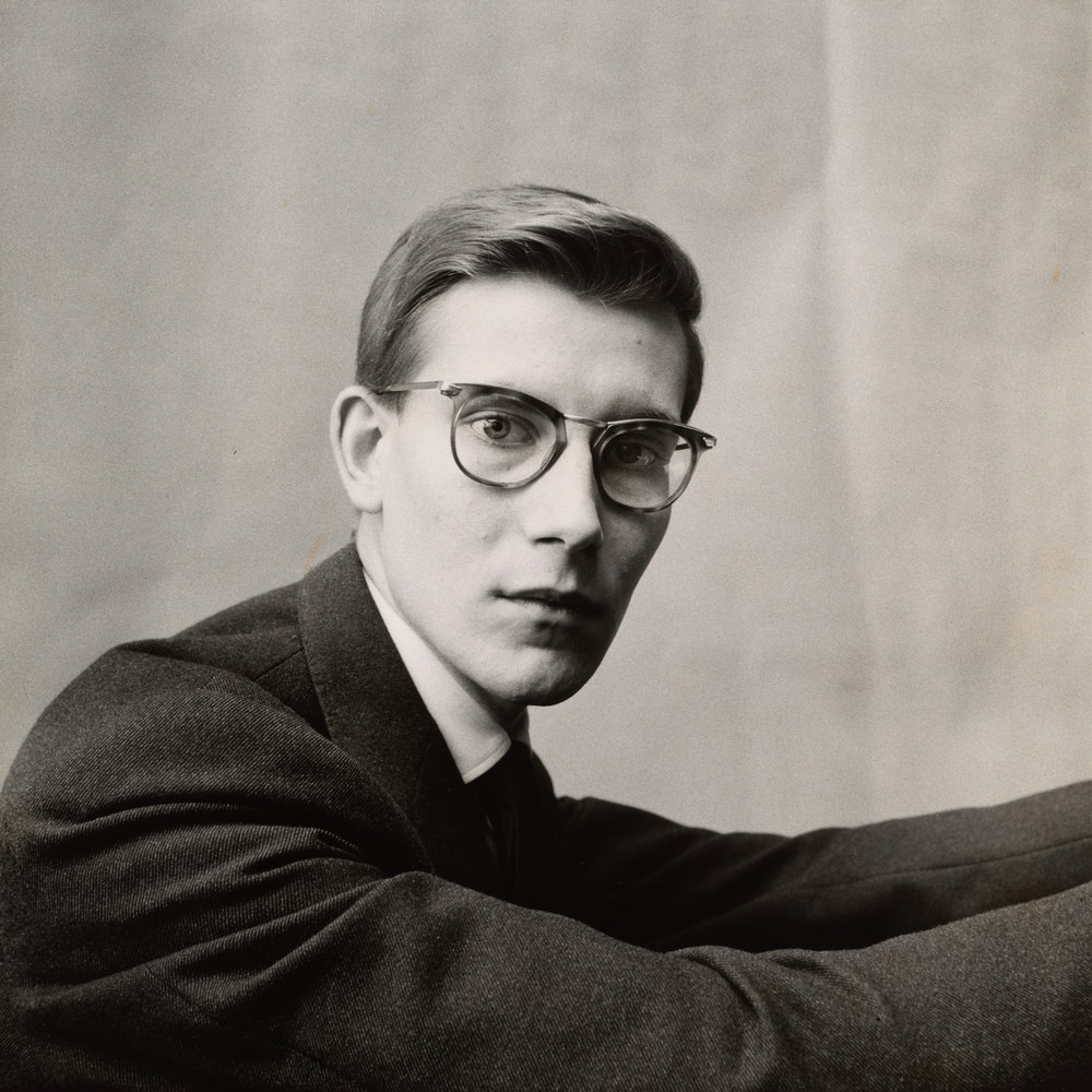 Yves Saint Laurent , Paris, 1957 Gelatin silver print © The Irving Penn Foundation