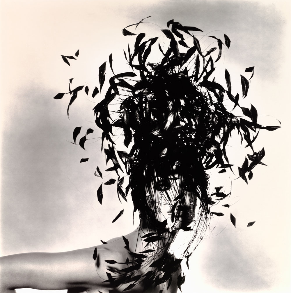 Woman in Feather Hat (B) , New York, 1991 Gelatin silver print © The Irving Penn Foundation
