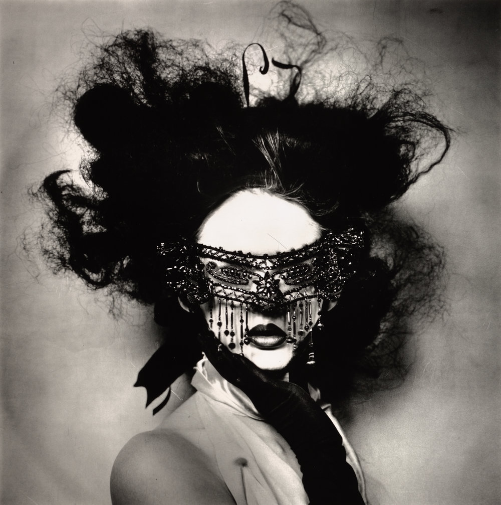 Young Woman with Beaded Eye Mask , New York, 2004 Gelatin silver print © Condé Nast