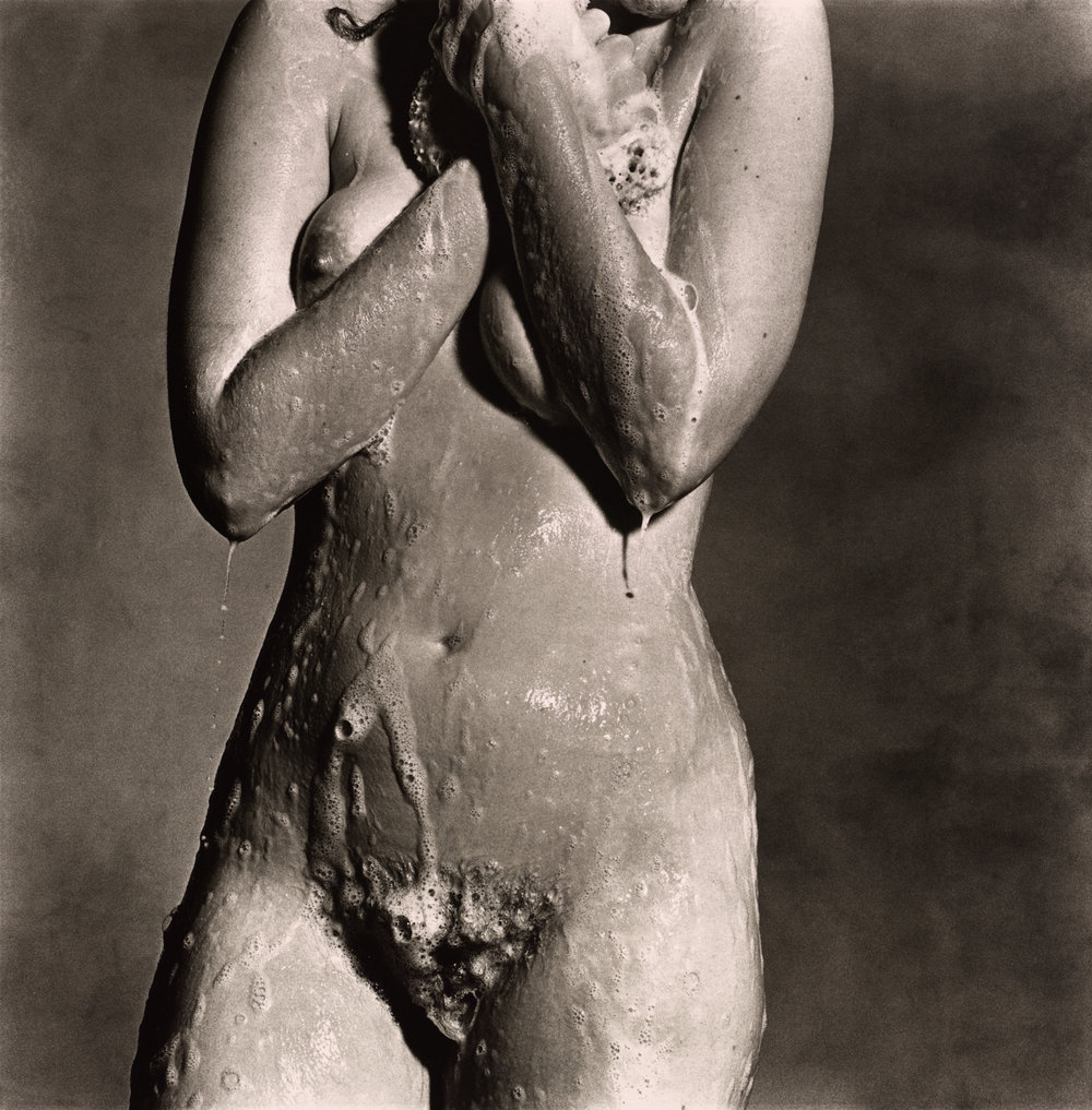 Nude Torso, Soaping , New York, 1978 Platinum-palladium print © The Irving Penn Foundation