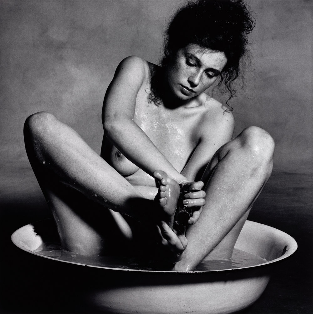 Soaping Sole of Foot , New York, 1978 Gelatin silver print © The Irving Penn Foundation