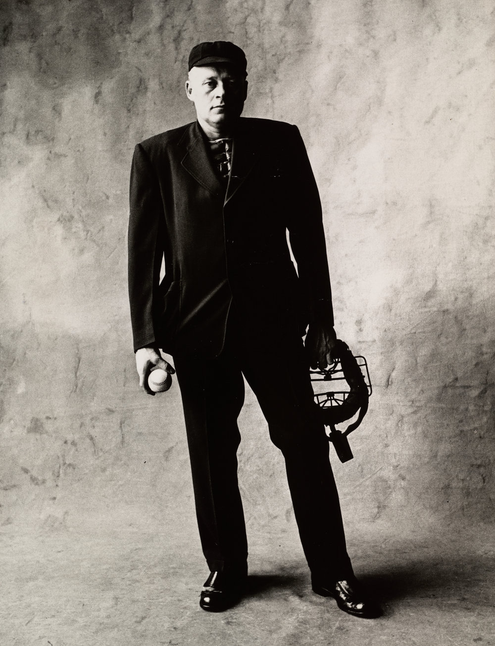 Umpire (A) , New York, 1951 Gelatin silver print © The Irving Penn Foundation