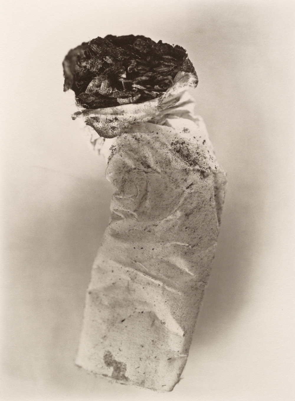 Cigarette No. 8 , New York, 1972 Platinum-palladium print © The Irving Penn Foundation