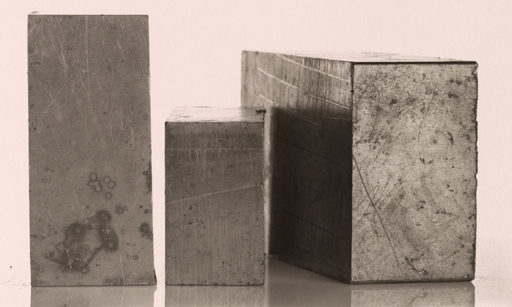 Three Steel Blocks , New York, 1980 Platinum-palladium print © The Irving Penn Foundation