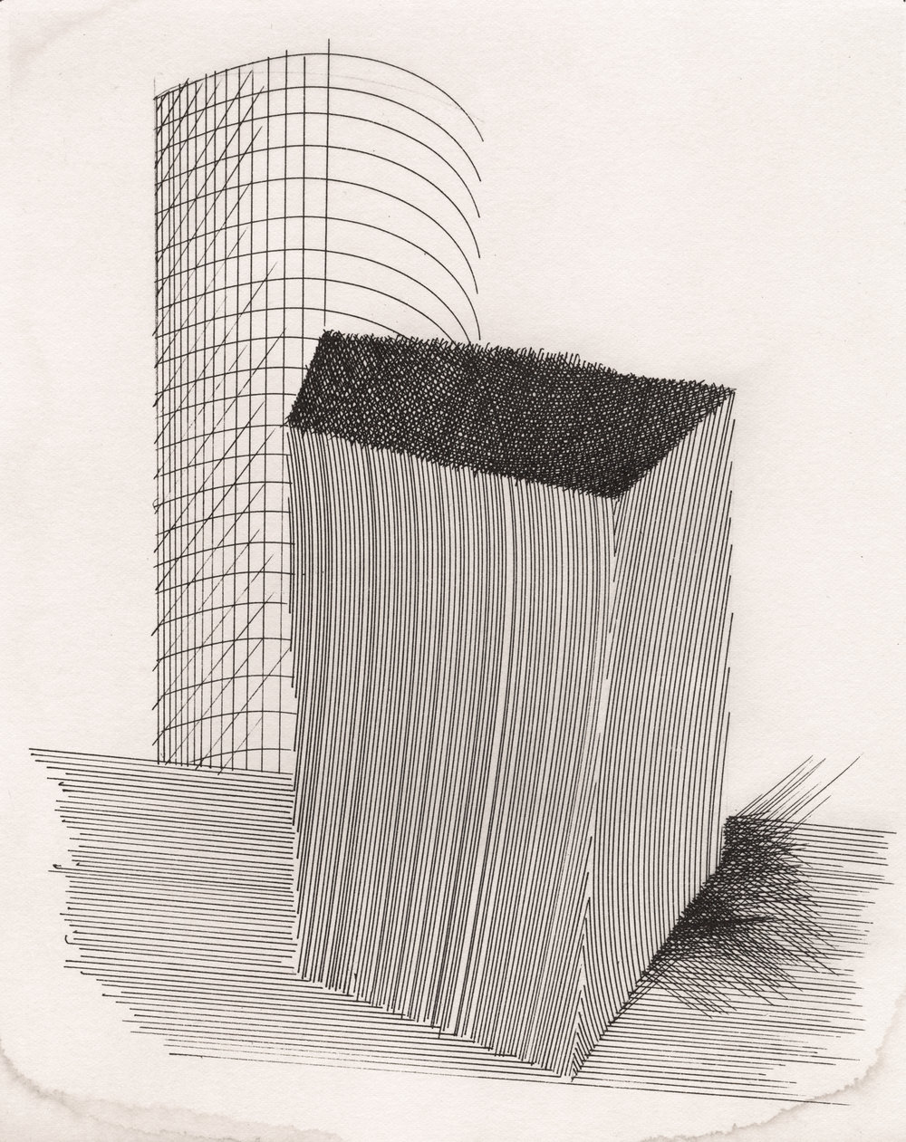 Silo , 1995 Platinum print (from original ink drawing, 1984) on paper © The Irving Penn Foundation