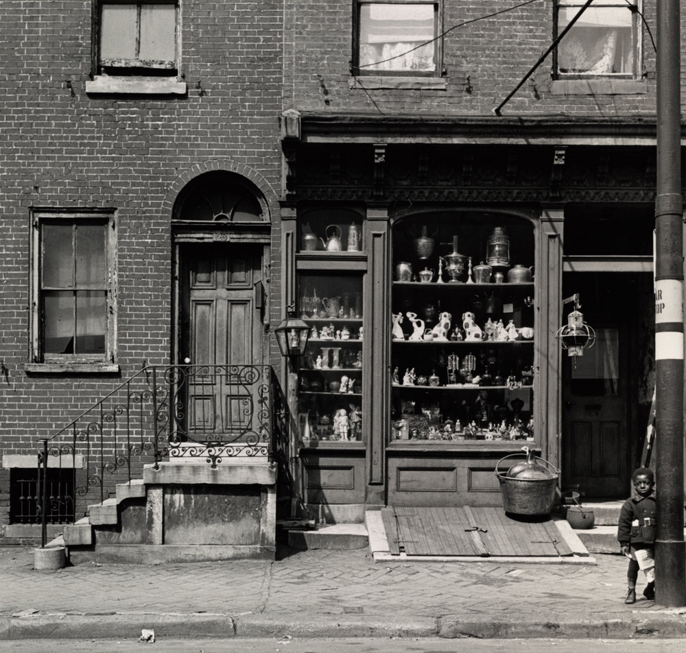 Antique Shop, Pine Street , Philadelphia, 1938 Gelatin silver print © The Irving Penn Foundation