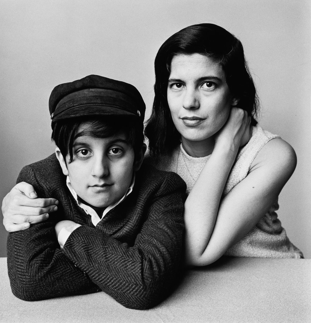 Susan Sontag and Son, David Sontag Rieff (A) , New York, 1966 Gelatin silver print © The Irving Penn Foundation