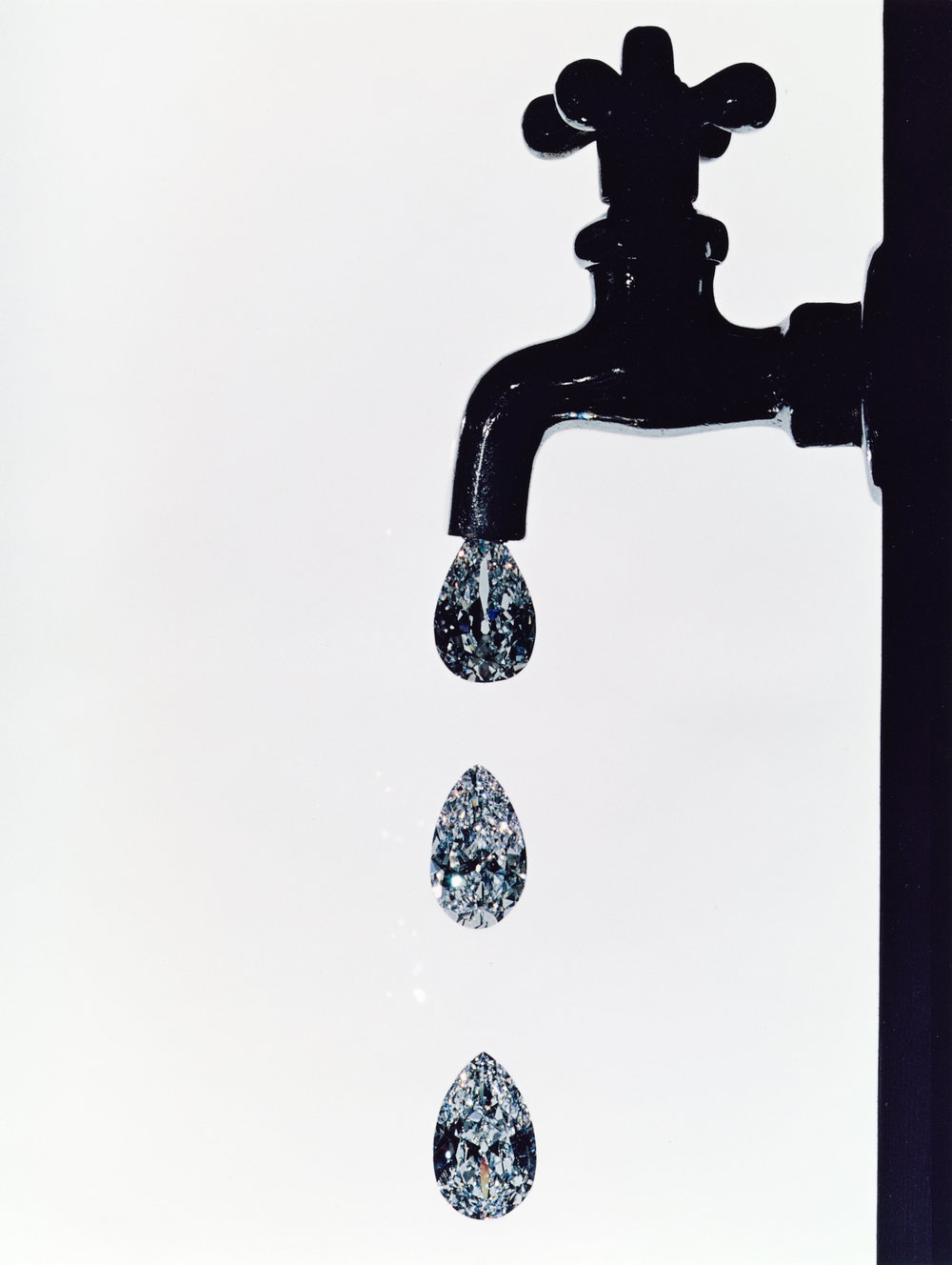 Faucet Dripping Diamonds , New York, 1963 Dye transfer print © Condé Nast