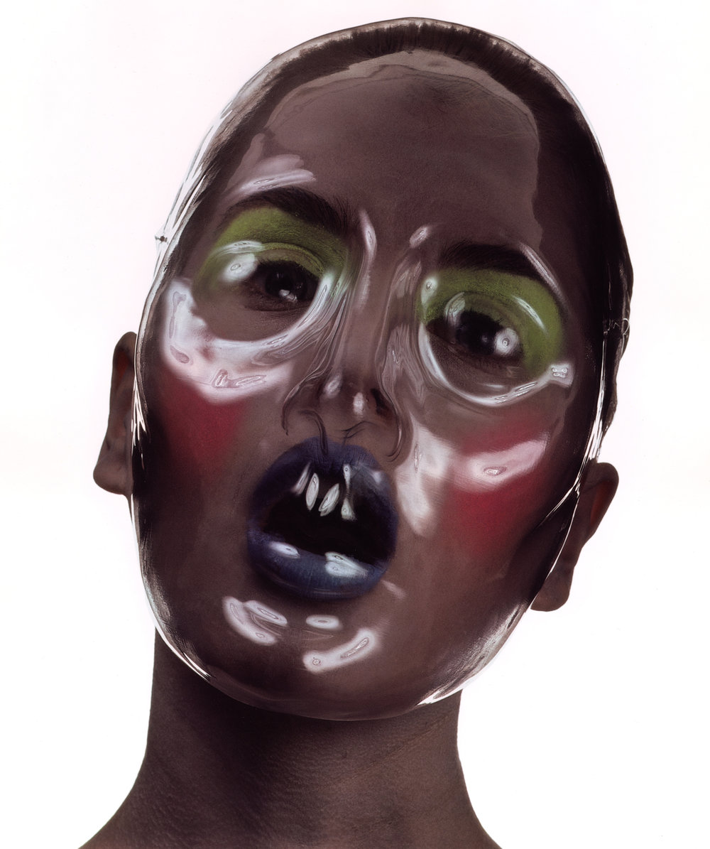 Clear Plastic Beauty Mask , New York, 1996 Dye transfer print © The Irving Penn Foundation