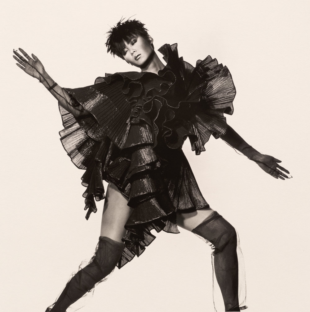 Issey Miyake Seaweed Dress , New York, 1987 Platinum-palladium print © The Irving Penn Foundation