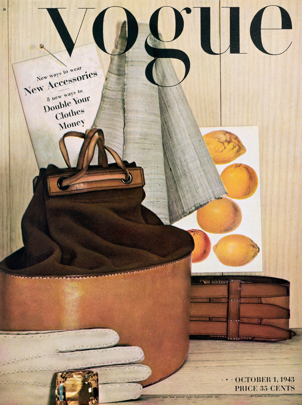 Irving Penn,   Vogue  Cover , October 1, 1943. © Condé Nast