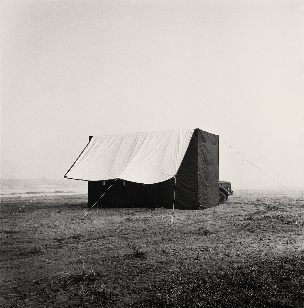Per Boije, Irving Penn's portable tent studio, Nepal, 1967. © The Irving Penn Foundation