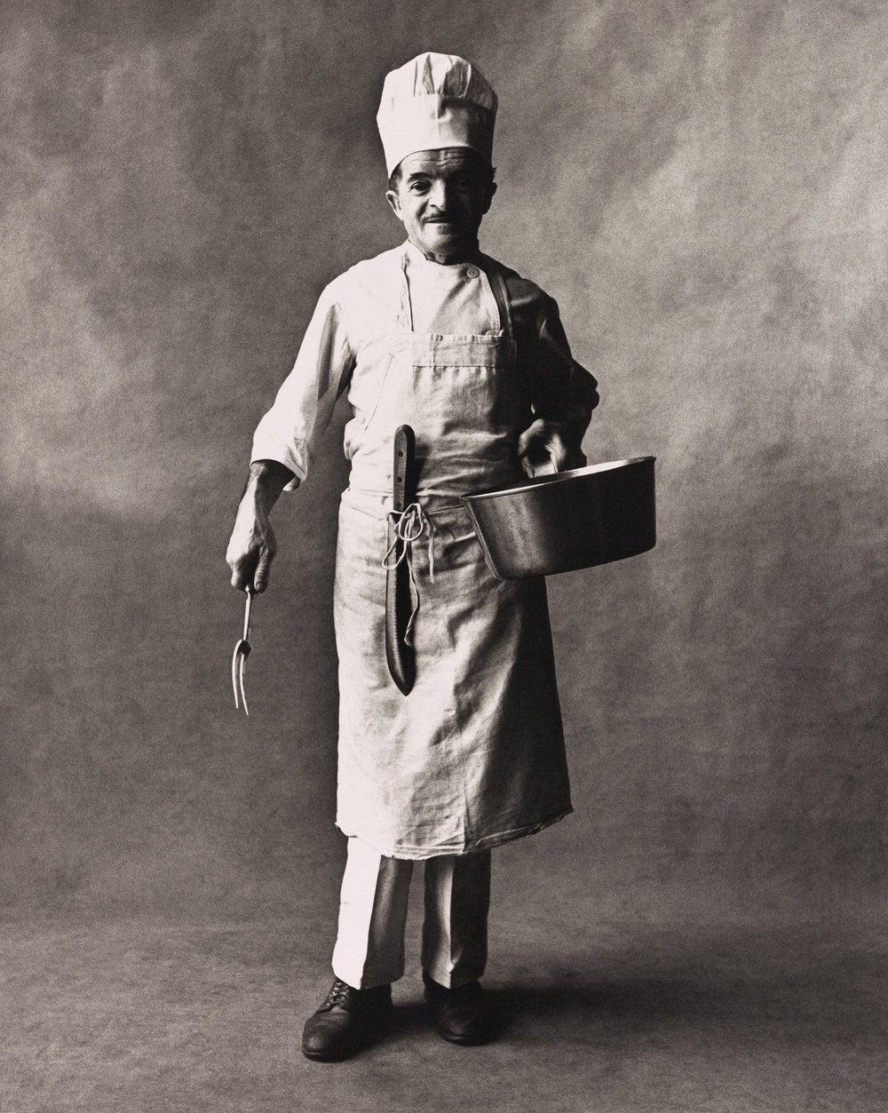 Chef (A) , New York, 1951 Platinum-palladium print © Condé Nast