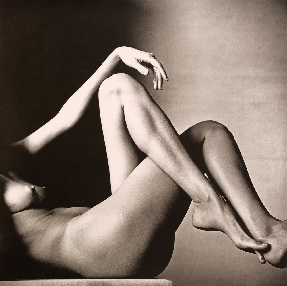 Leggy Nude , New York, 1993 Platinum-palladium print © The Irving Penn Foundation