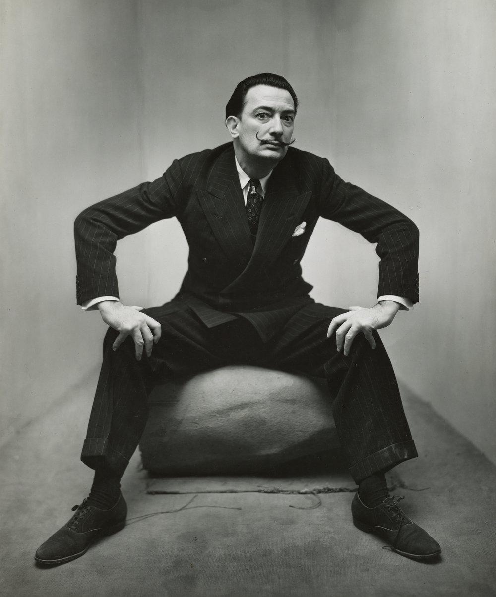 Irving Penn,Salvador Dalí,New York, 1947 ©The Irving Penn Foundation