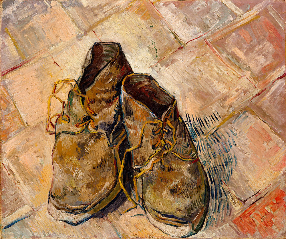 Vincent van Gogh,  Shoes , 1888. Oil on canvas. The Metropolitan Museum of Art, New York.