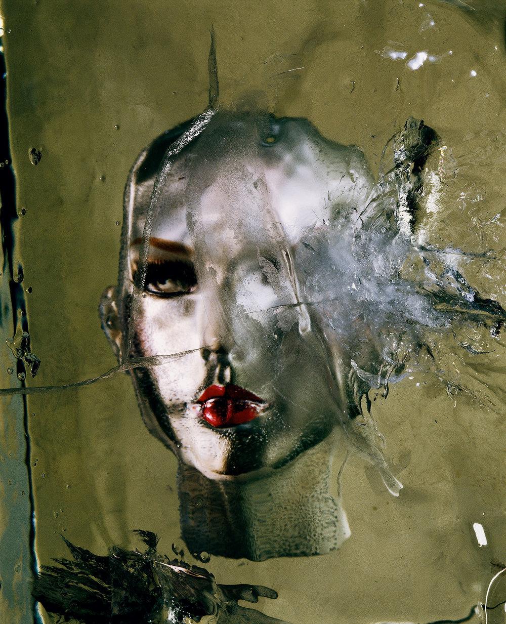 Irving Penn,  Head in Ice  ,  New York, 2002  ©  Condé Nast