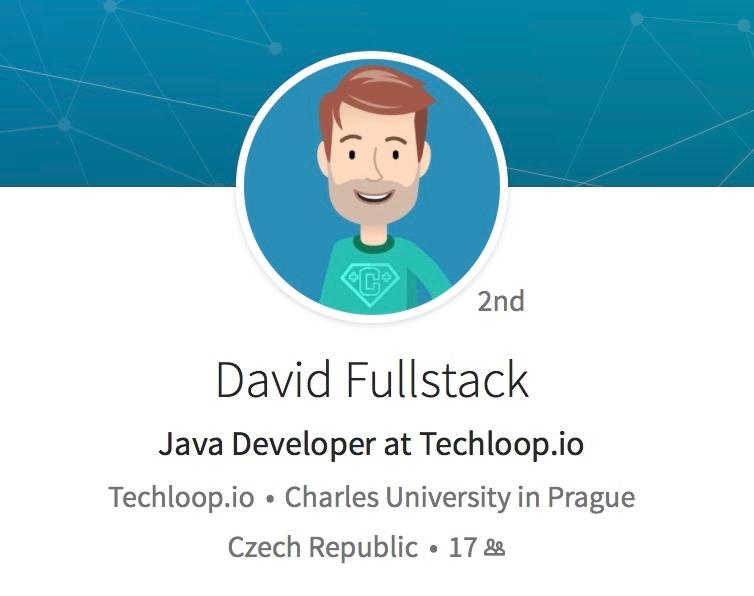 David Fullstack - smyšlený vývojář