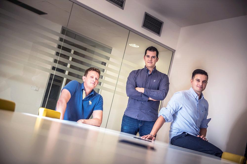 Techloop founders: Paul Cooper, Andrew Elliott, Joao Duarte